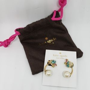 New Kate Spade Pearl and Gold Earrings